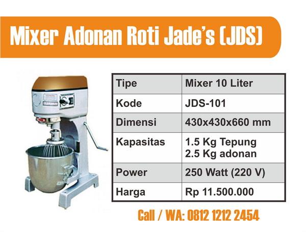 Mixer Adonan Roti 10 L, Harga Mixer Adonan