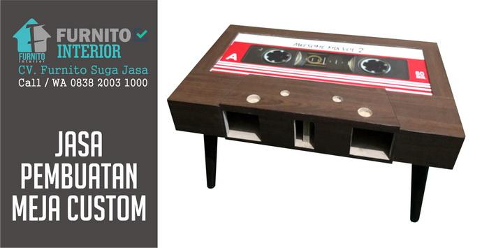 banner jasa pembuatan meja custom bandung