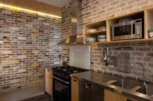 Kitchen set kayu ekspos
