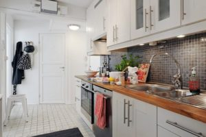 Kitchen set skandanavia minimalis