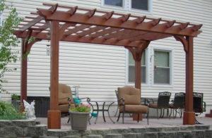 desain kanopi kayu