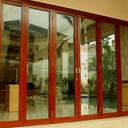 Kusen Aluminium motif kayu Bandung