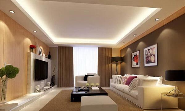 desain plafon ruang tamu sederhana di Garut