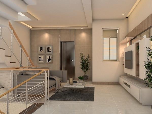desain plafon ruang tamu sederhana 1