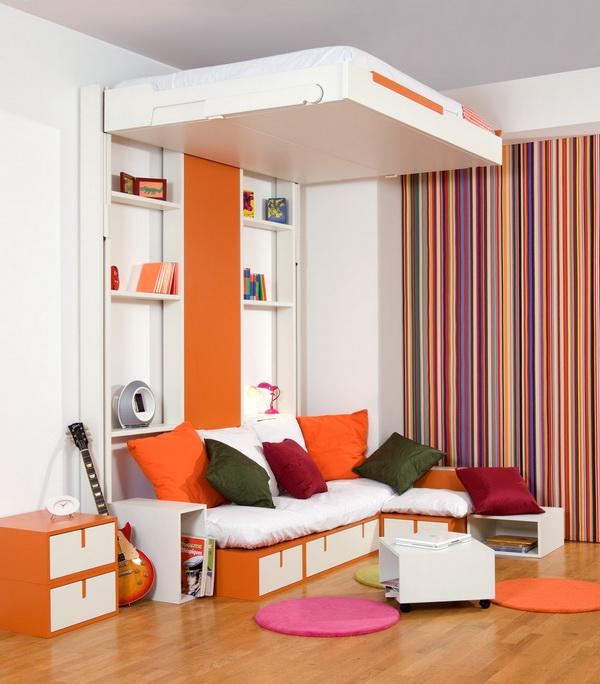 tempat tidur lipat dinding poo and roll
